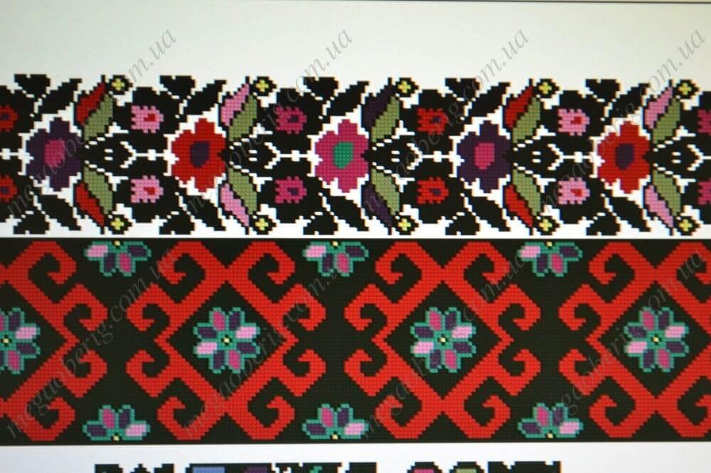 Схема вишиванки Борщівської