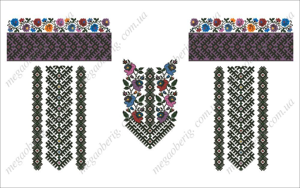 Схема вишиванки жіночої 07V