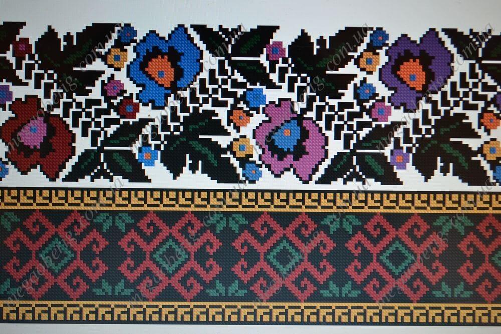 Схема жіночої вишиванки 07V