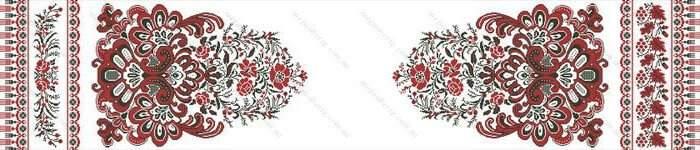 """Схема вишитого весільного рушника """"Квітка роду""""."""